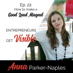 Anna Parker-Naples How to make a good lead magnet Entrepreneurs Get Visible Podcast
