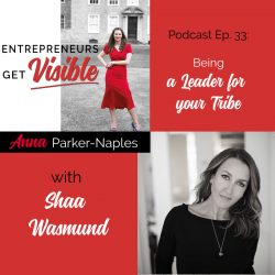 Shaa Wasmund Anna Parker-Naples Being a Leader for your Tribe Entrepreneurs Get Visible Podcast